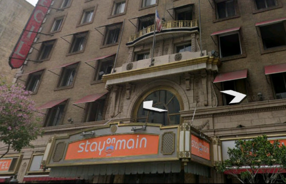 فندق سيسيل المرعب أين يقع على خرائط جوجل ثلاثي الأبعاد Stay on Main