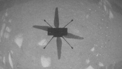 مروحية إنجينويتي المريخية أول مركبة فضائية تكمل رحلة يتم التحكم بها من كوكب أخر