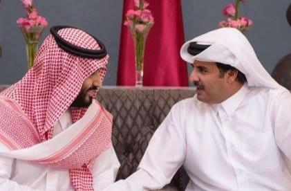 أمير قطر يلتقي محمد بن سلمان أعلن ديوان أمير قطر أن أمير قطر ، تميم بن حمد آل ثاني ، سيزور مدينة جدة ويلتقيان فيها ويكملان القاء بينهما