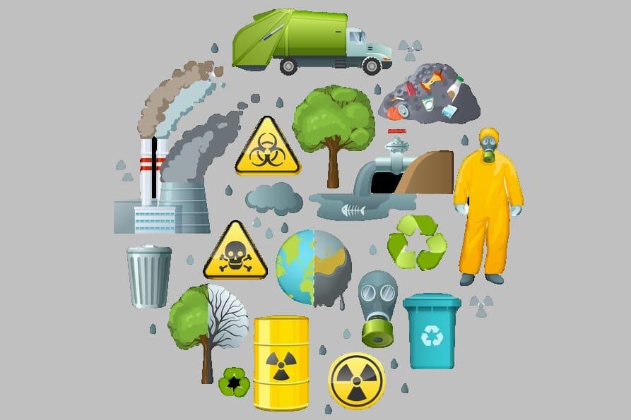 انواع التلوث في العالم
